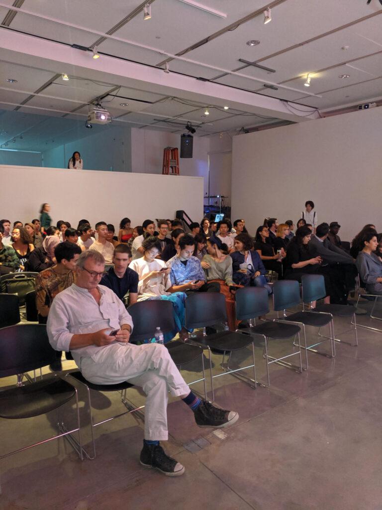 Audience waiting for MOREHSHIN ALLAHYARI to start their presentation.