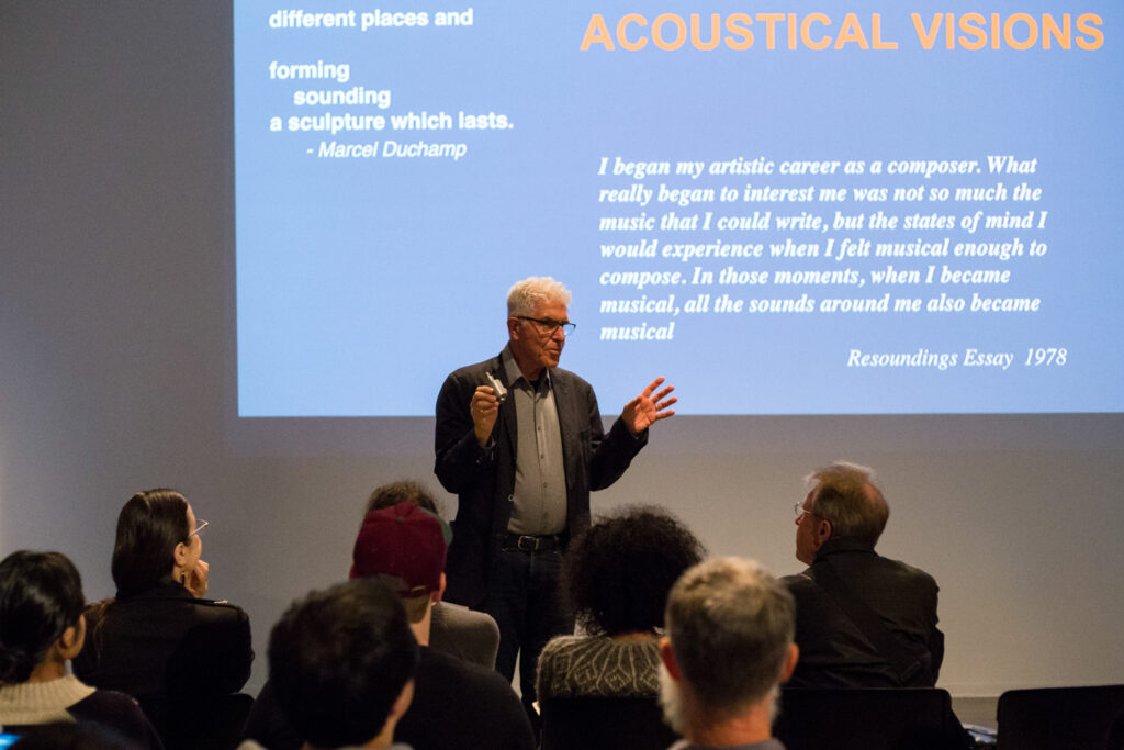 """Acoustical Visions. """"I began my artistic career as a composer. What really began to interest me was not so much the music that I could write, but the states of mind I would experience when I felt musical enough to compose. In those moments, when I became musical, all the sounds around me also became musical."""""""