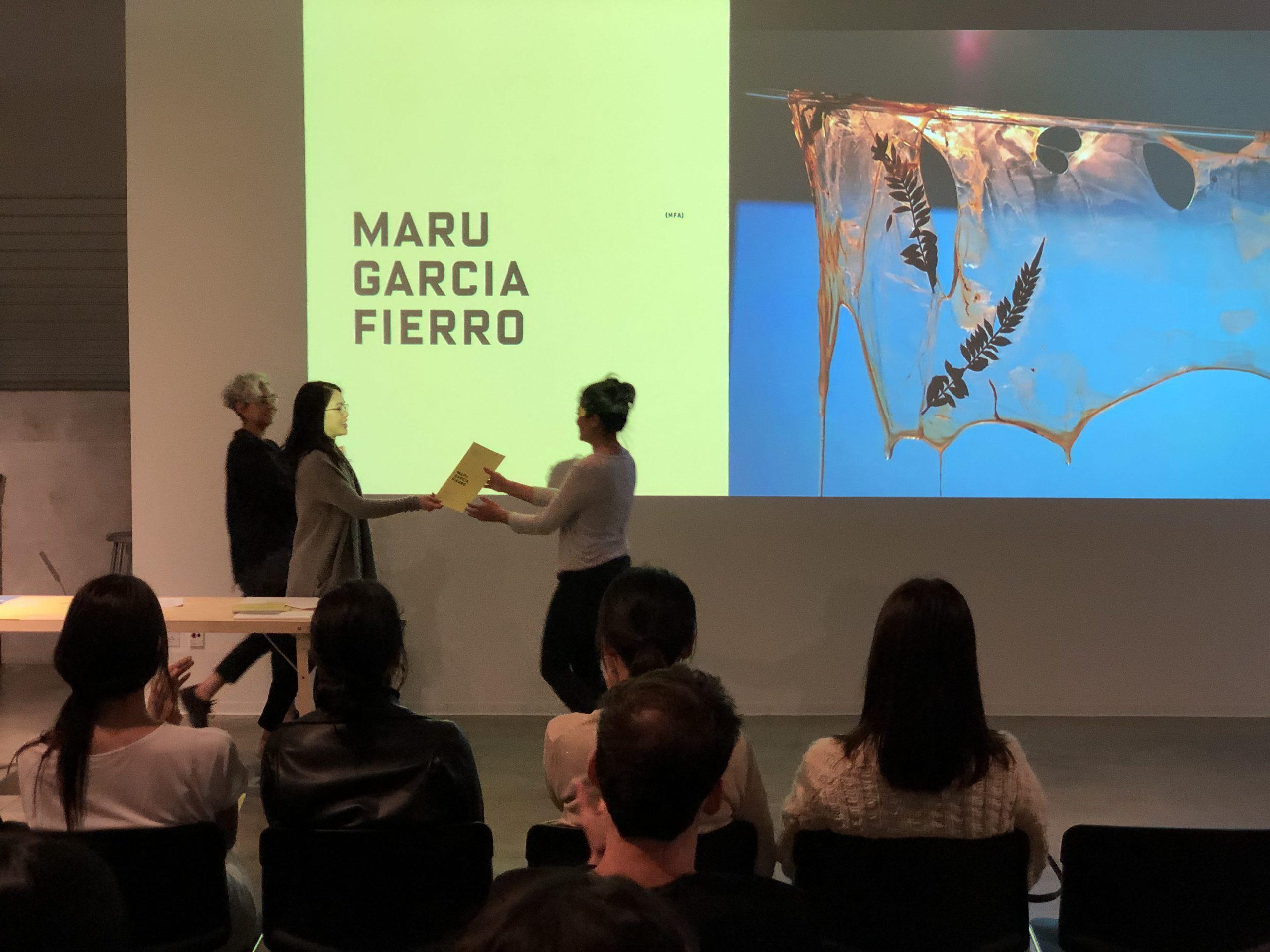 DMA Scholarship Reception 2019-2020, Maru Garcia Fierro