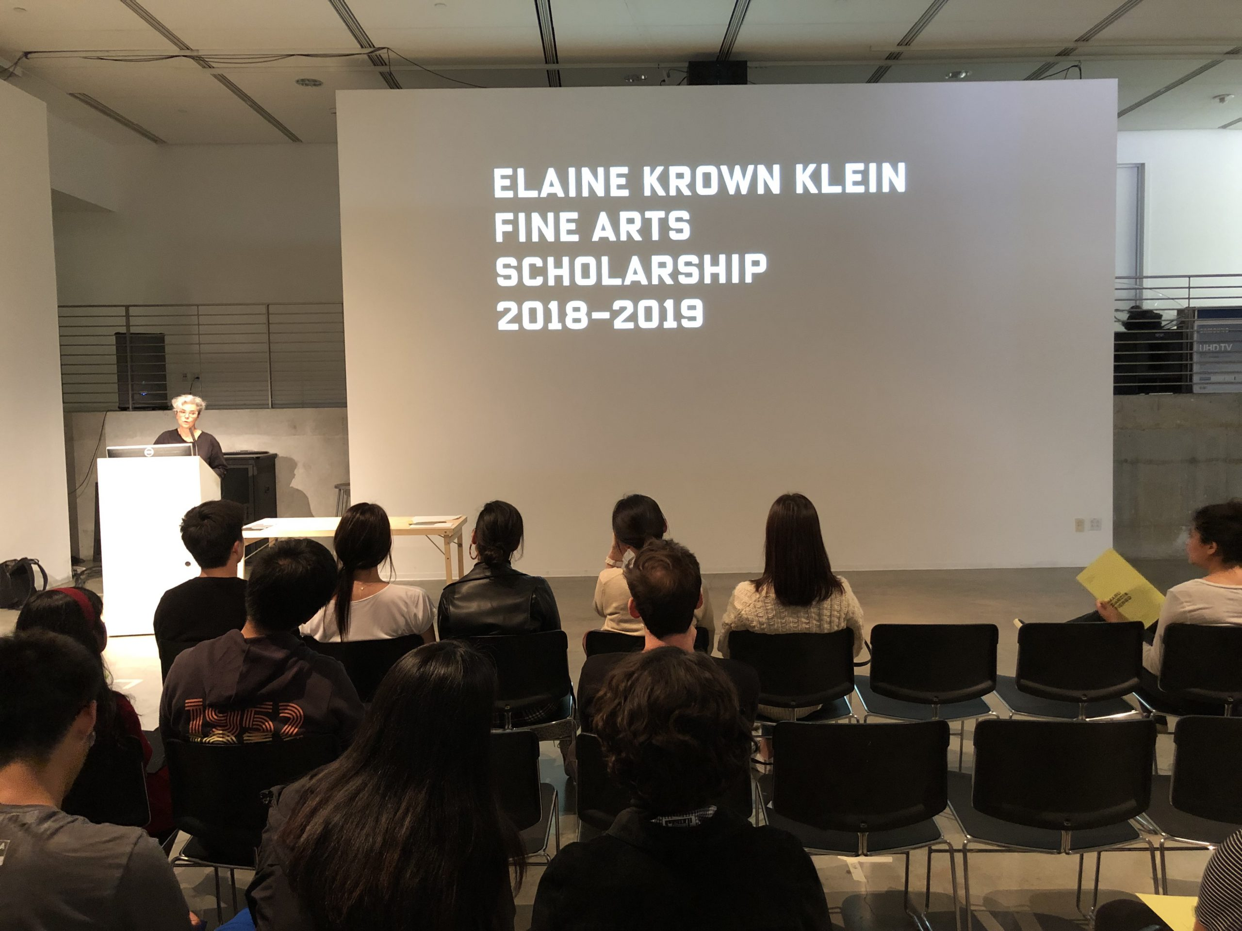 DMA Scholarship Reception 2019-2020, Elaine Crown Klein Fine Arts Scholarship 2018-2019