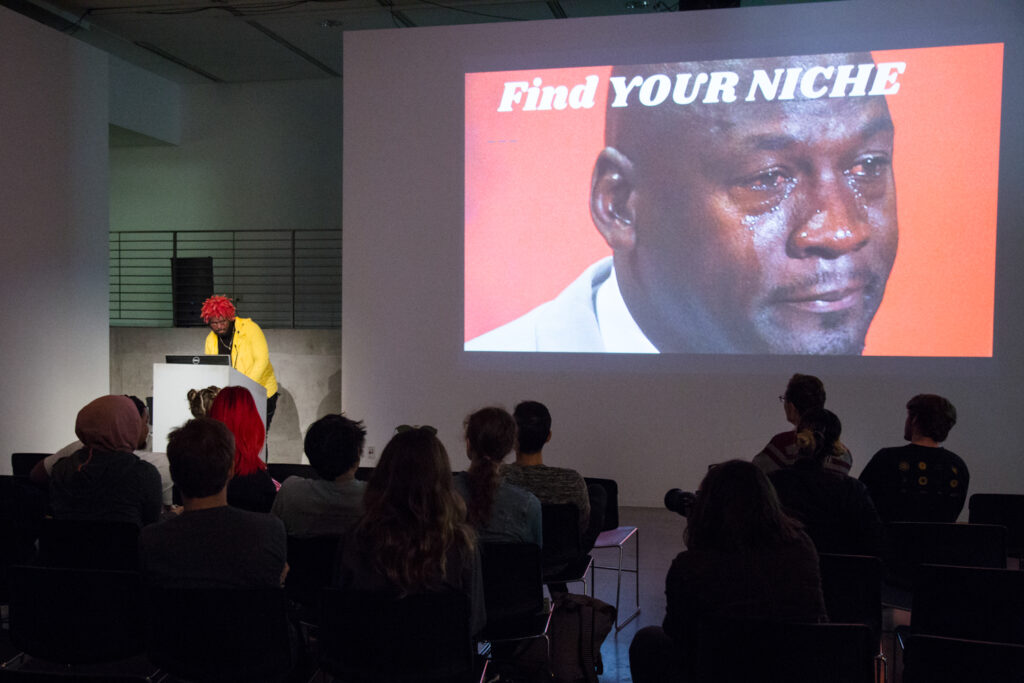 Find YOUR NICE displayed over Michael Jordan crying photo.