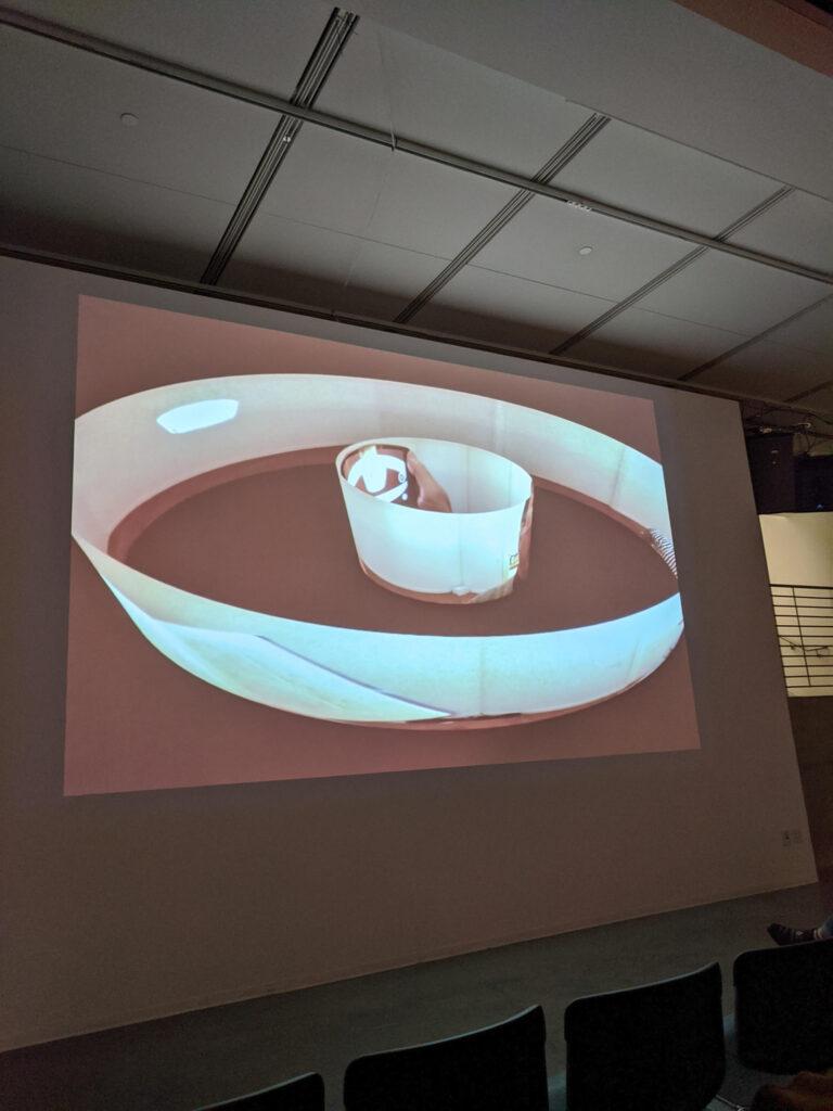MASAKI FUJIHATA's ditigal mockup of presentation work.