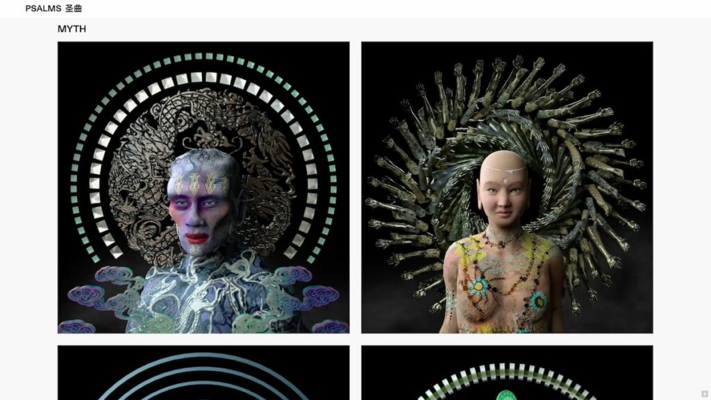 Myth is a performance-activated VR experience that encompasses a sinofuturist reimagination of Chinese folk tradition and procedurally randomized digital deities, inspired by Peking opera and Asian mythologies.