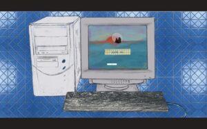 WebGL Log In screen for Yuchi Ma's solo show.