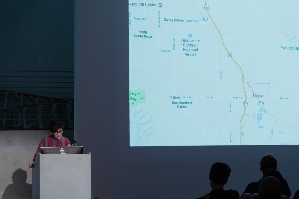 Gelare Khoshgoran is sharing a map of the city Mecca, California.