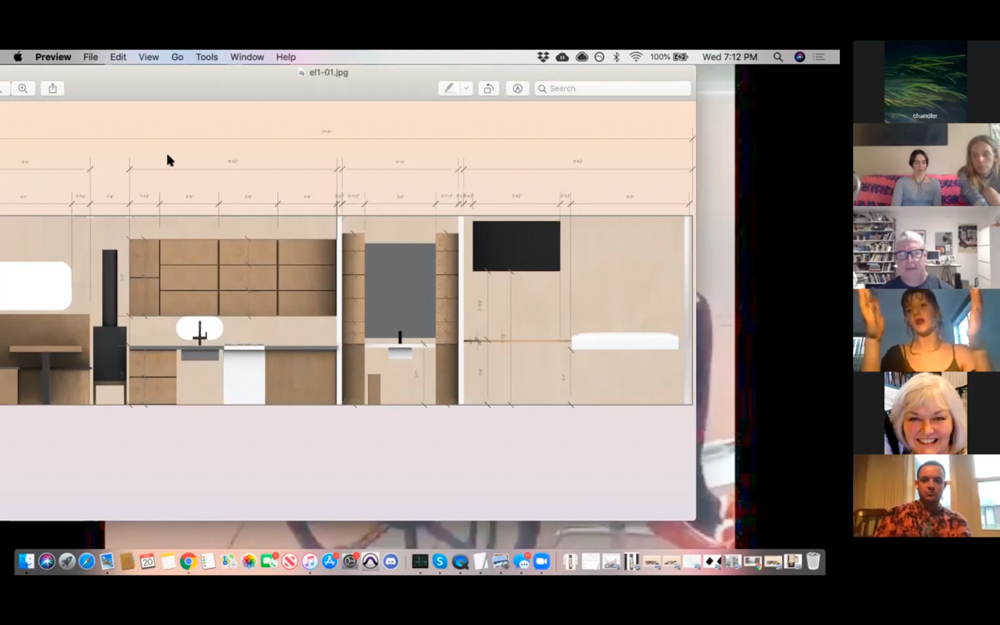 Emily Barker shows a mockup render of a domestic space.