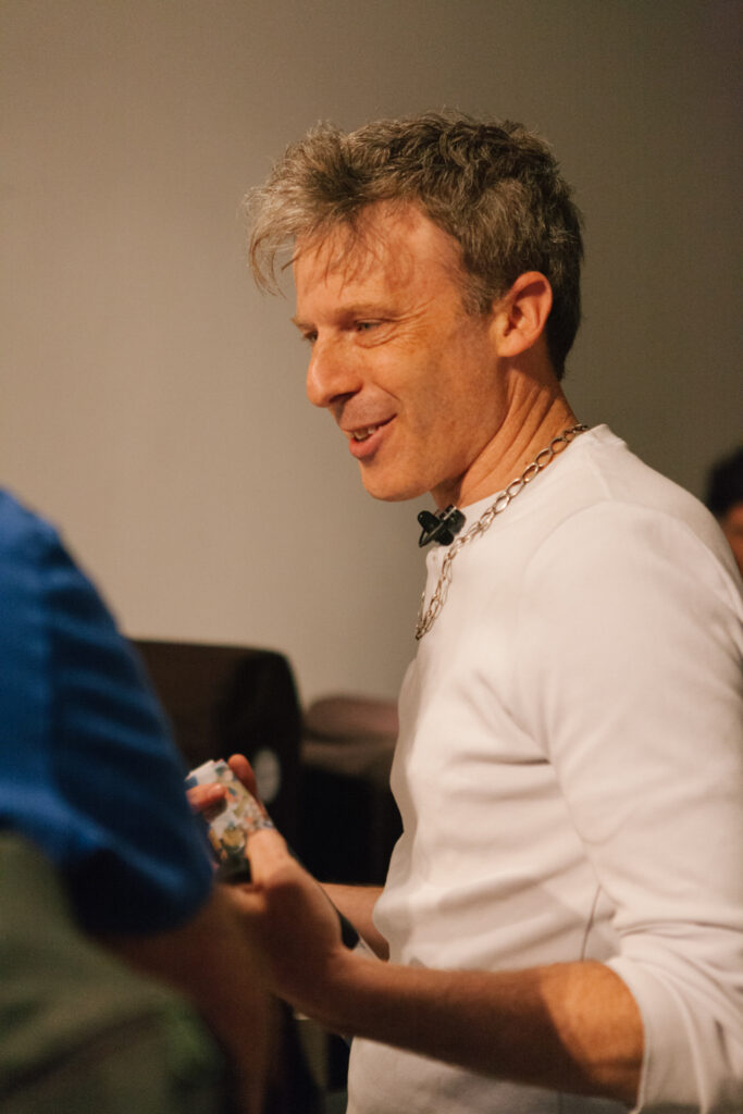 Reception of Daniel Landau's lecture.