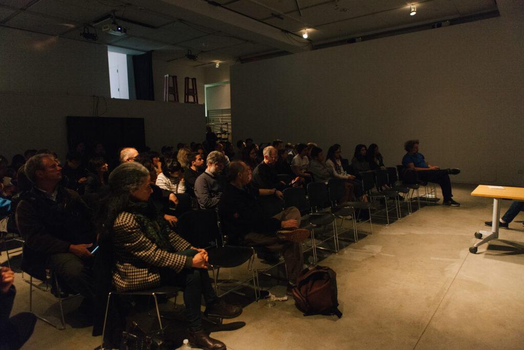 Audience during Daniel Landau's lecture.